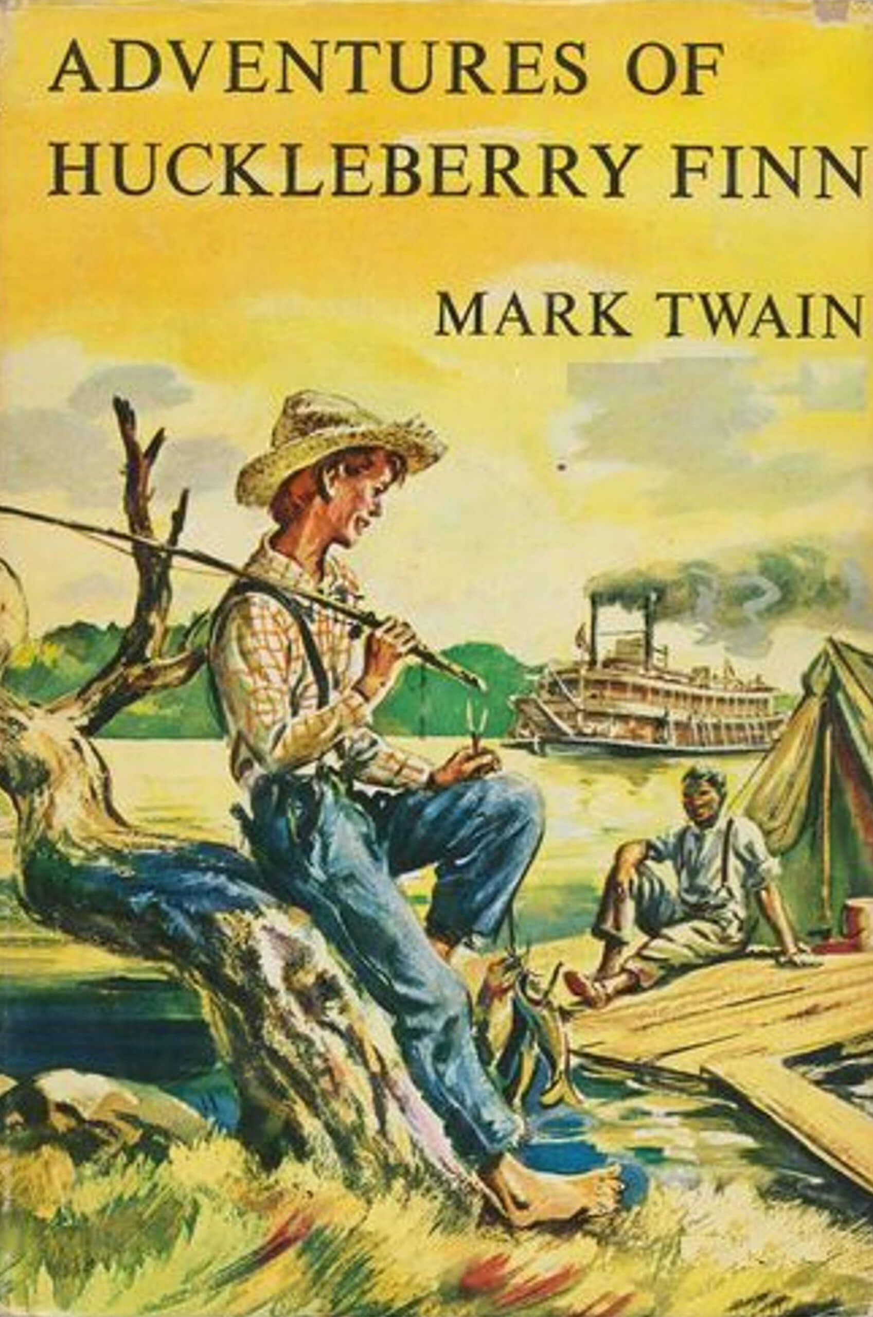The Adventures of Huckleberry Finn Novel by Mark Twain